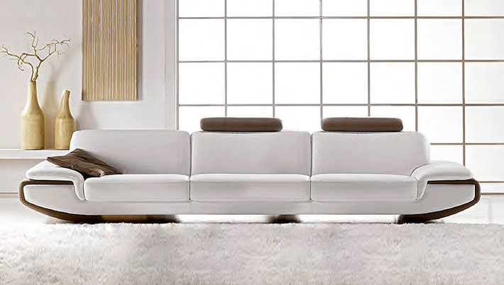 Divano moderno in pelle nirvana for Prezzi divani moderni